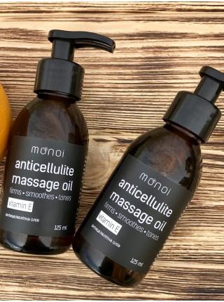 Антицеллюлитное массажное масло Monoi с витамином Е